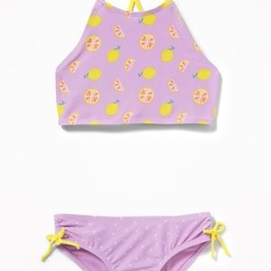 NWT Old Navy Lemon Strappy Back Swimsuit